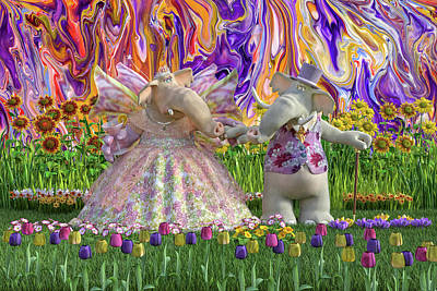 Animals Digital Art - The Engaging Couple by Betsy Knapp