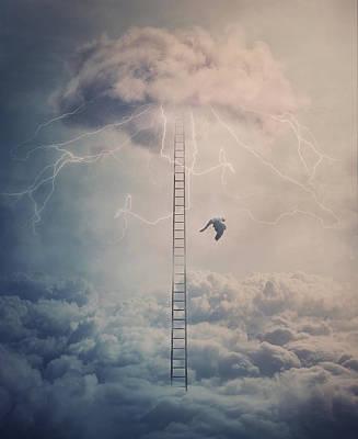 Surrealism Digital Art - The Fallen Angel by PsychoShadow ART