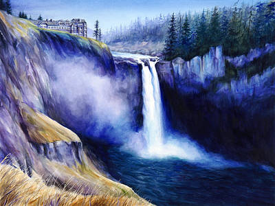 Painting - The Falls by Jacqueline Tribble