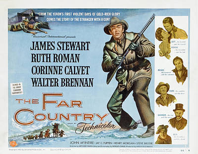 Royalty-Free and Rights-Managed Images - The Far Country 2, with James Stewart and Ruth Roman, 1954 by Stars on Art
