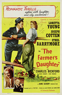 Royalty-Free and Rights-Managed Images - The Farmers Daughter 2, with Loretta Young and Joseph Cotten, 1947 by Stars on Art