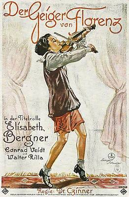 Royalty-Free and Rights-Managed Images - The Fiddler of Florence, with Elisabeth Bergner and Conrad Veidt, 1926 by Stars on Art