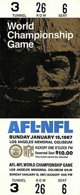 Clouds - The First Super Bowl  1967 by Michael Stout