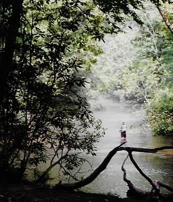 Belinda Landtroop Mixed Media - The Fisherman by Belinda Landtroop