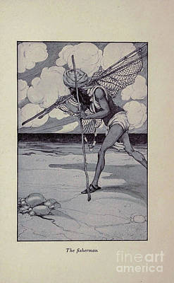 Drawings Royalty Free Images - The Fisherman i1 Royalty-Free Image by Historic illustrations