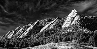 Vintage Signs - The Flatirons - Boulder Colorado by Stephen Stookey