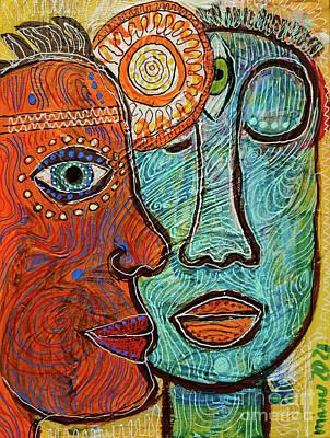 Sara Habecker Folk Print - The Flow by Mimulux Patricia No
