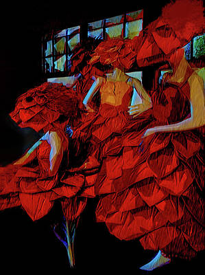 Surrealism Digital Art - The Flower Creatures by Steve Taylor