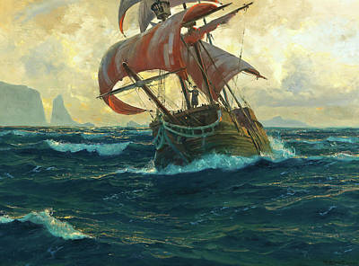 Shark Art - The Flying Dutchman by Michael Zeno Diemer