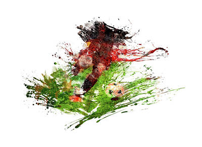 Sports Royalty-Free and Rights-Managed Images - The footballer by All Sport Art