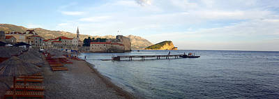 Winter Animals - The fortress of the old town in Budva. Montenegro. by Ambasador