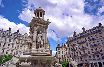 Superhero Ice Pops - The fountain on Place des Jacobins in Lyon, France by James Byard