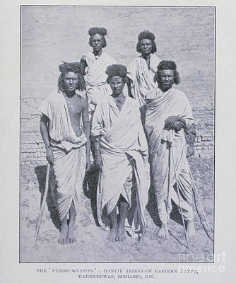 Drawings Royalty Free Images - The fuzzie wuzzies hamite tribes of eastern Egypt i1 Royalty-Free Image by Historic illustrations