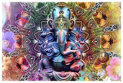Lovely Lavender - The Ganesha Mandala by Daniel Arrhakis
