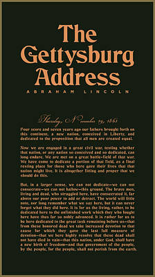 Digital Art Royalty Free Images - The Gettysburg Address Print - Abraham Lincoln Speech - American History Poster 02 Royalty-Free Image by Studio Grafiikka