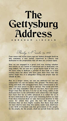 Royalty-Free and Rights-Managed Images - The Gettysburg Address Print - Abraham Lincoln Speech - American History Poster 03 by Studio Grafiikka
