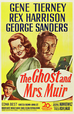 Royalty-Free and Rights-Managed Images - The Ghost and Mrs. Muir poster 1947 by Stars on Art
