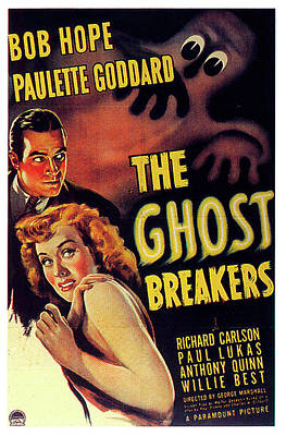 Mixed Media Royalty Free Images - The Ghost Breakers poster 1940 Royalty-Free Image by Stars on Art