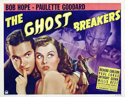 Royalty-Free and Rights-Managed Images - The Ghost Breakers, with Bob Hope and Paulette Goddard, 1940 by Stars on Art