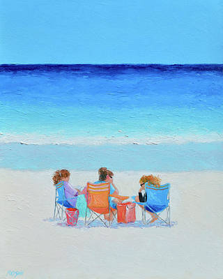 Amy Hamilton Animal Collage - The Girls Day Out by Jan Matson