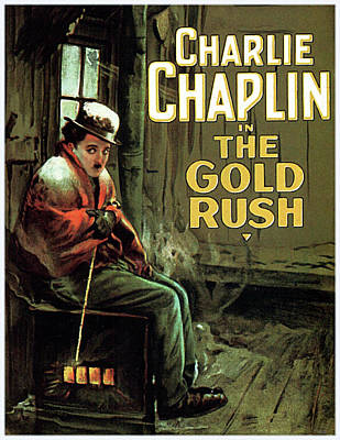Mixed Media Royalty Free Images - The Gold Rush movie poster Chaplin 1925 Royalty-Free Image by Stars on Art