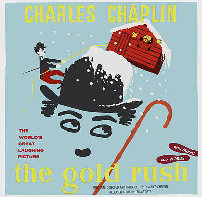 Royalty-Free and Rights-Managed Images - The Gold Rush, with Charlie Chaplin, 1925 by Stars on Art