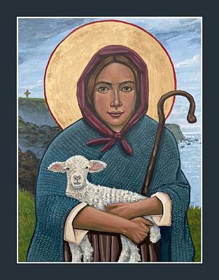 Painting - The Good Shepherdess by Kelly Latimore
