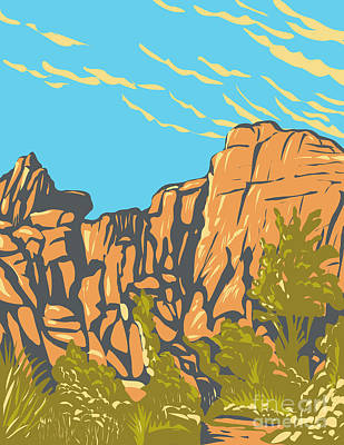Personalized Name License Plates - The Great Burrito Rock Formation in the Real Hidden Valley Area of Joshua Tree National Park California WPA Poster Art by Aloysius Patrimonio