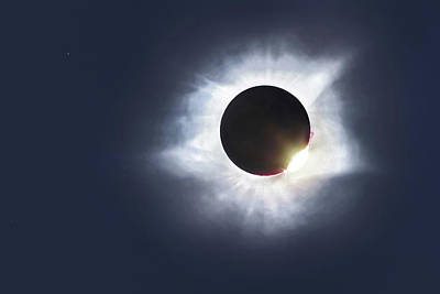 Photograph - The Great Eclipse 2017 by Steven Llorca