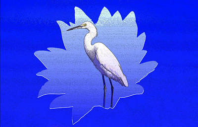 Comic Character Paintings - The Great White Egret by David Lee Thompson