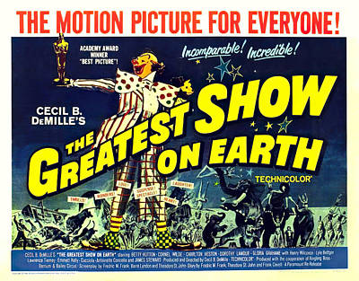 Mixed Media Royalty Free Images - The Greatest Show on Earth, 1952 Royalty-Free Image by Stars on Art