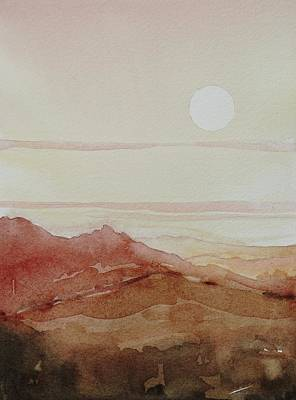 Target Threshold Watercolor - The Heat of the Day by Luisa Millicent
