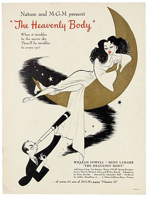 Mixed Media Royalty Free Images - The Heavenly Body, with William Powell and Hedy Lamarr, 1944 Royalty-Free Image by Stars on Art