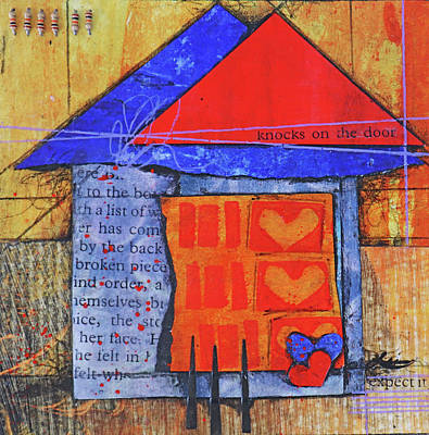 Mixed Media - The home is a bit out of balance by Laura Lein-Svencner
