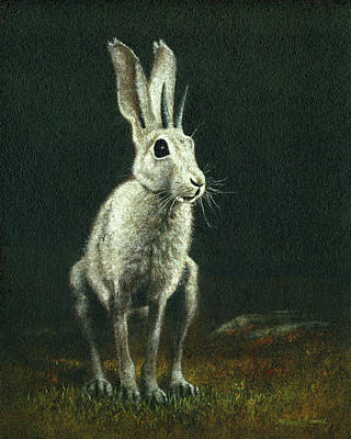 Popstar And Musician Paintings - The Horned Hare Of Bodmin Moor by Michael Thomas
