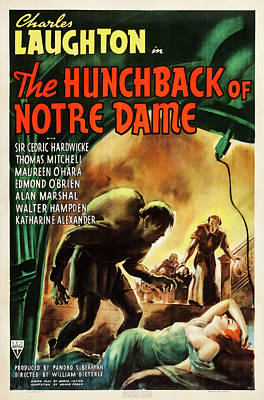 Winter Animals - The Hunchback of Notre Dame movie poster, 1939 by Stars on Art