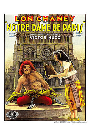 Mixed Media Royalty Free Images - The Hunchback of Notre Dame, with Lon Chaney, 1923 Royalty-Free Image by Stars on Art