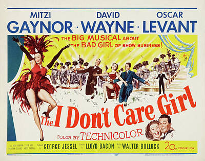Mixed Media Royalty Free Images - The I Dont Care Girl, with Mitzi Gaynor, 1953 Royalty-Free Image by Stars on Art