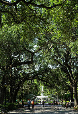 Studio Grafika Science - The Iconic Fountain at Forsyth Park Historic Savannah Georgia by Wayne Moran