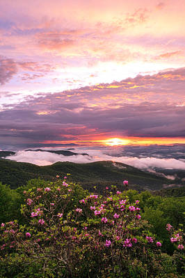 Photograph - The Impossible Blue Ridge Sunset by Dawnfire Photography
