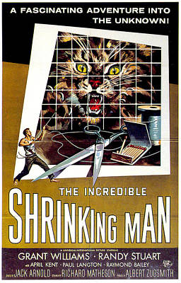 Mixed Media Royalty Free Images - The Incredible Shrinking Man movie poster 1957 Royalty-Free Image by Stars on Art