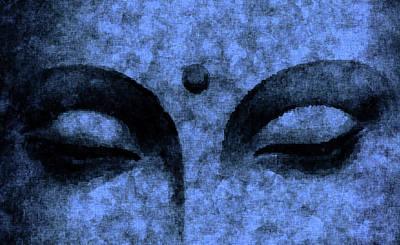 Mixed Media Royalty Free Images - The Inner Sky - Buddha in Meditation 02 Royalty-Free Image by Studio Grafiikka