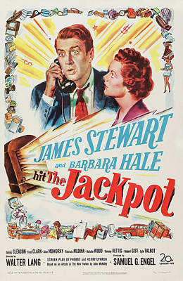 Mixed Media Royalty Free Images - The Jackpot - 1950 Royalty-Free Image by Stars on Art