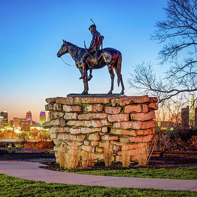 Royalty-Free and Rights-Managed Images - The Kansas City Scout Surveying the Landscape 1x1 by Gregory Ballos