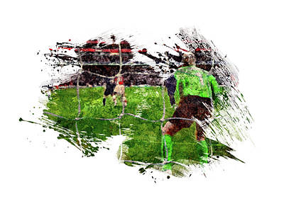 Sports Royalty-Free and Rights-Managed Images - The Keeper by All Sport Art