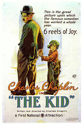 Railroad - The Kid Chaplin movie poster 1921 by Stars on Art