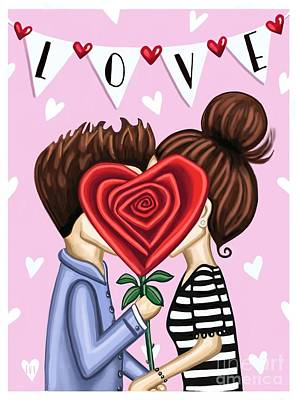 Royalty-Free and Rights-Managed Images - The Kiss by Elizabeth Robinette Tyndall