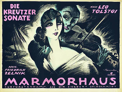 Mixed Media Royalty Free Images - The Kreutzer Sonata, a German film, 1922 Royalty-Free Image by Stars on Art