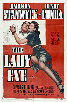 Royalty-Free and Rights-Managed Images - The Lady Eve, with Barbara Stanwyck and Henry Fonda, 1941 by Stars on Art