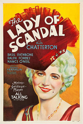 Royalty-Free and Rights-Managed Images - The Lady of Scandal, 1930 by Stars on Art